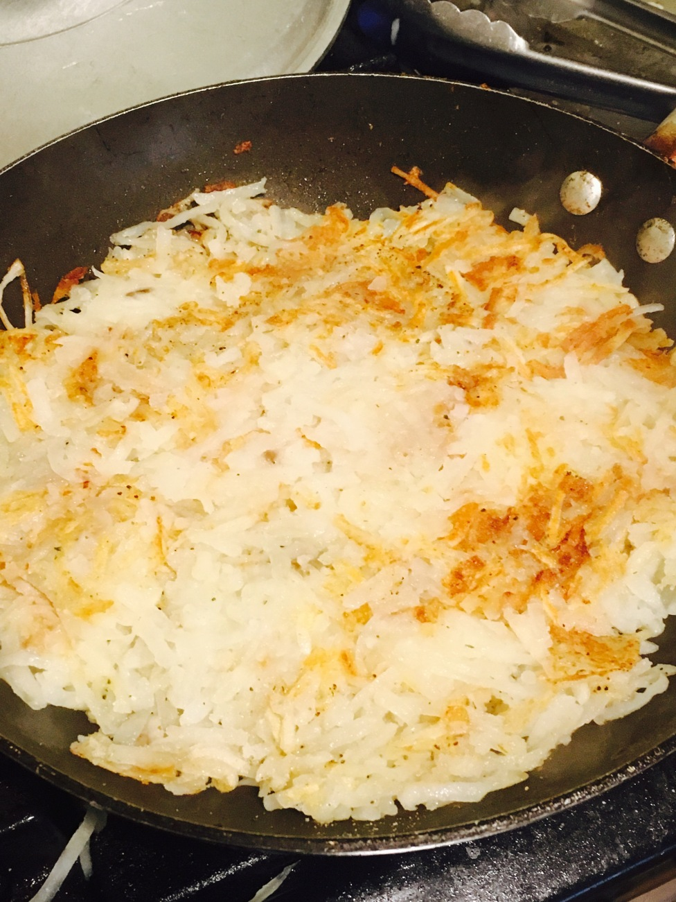 Hash Browns in Pan
